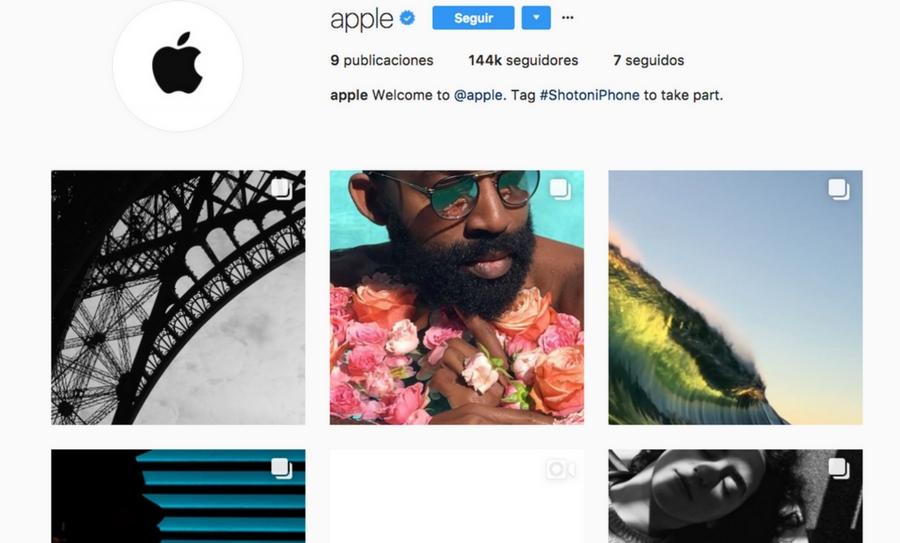 Apple inaugura cuenta en Instagram