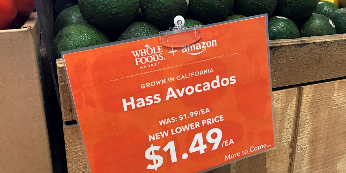 Amazon baja hasta 43% precios en Whole Foods