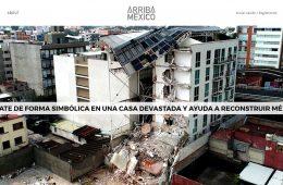 Arriba México, plataforma de eCommerce para alquilar simbólicamente habitaciones y reconstruir México