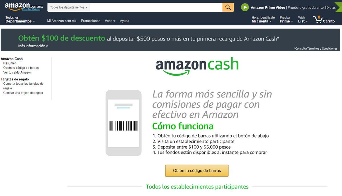 Amazon México lanza nueva forma de pago: Amazon Cash