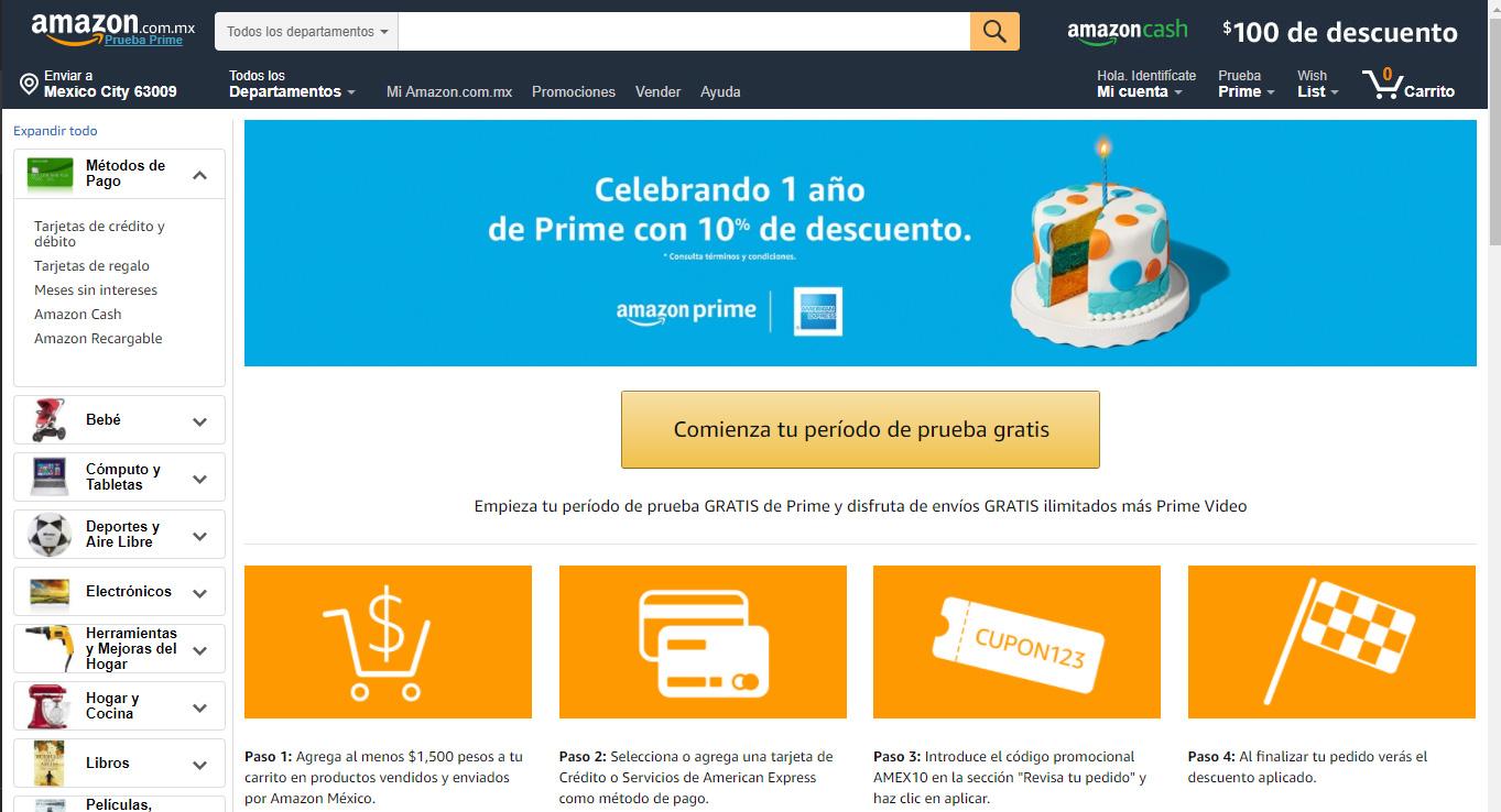Amazon Prime llega a su primer año en México