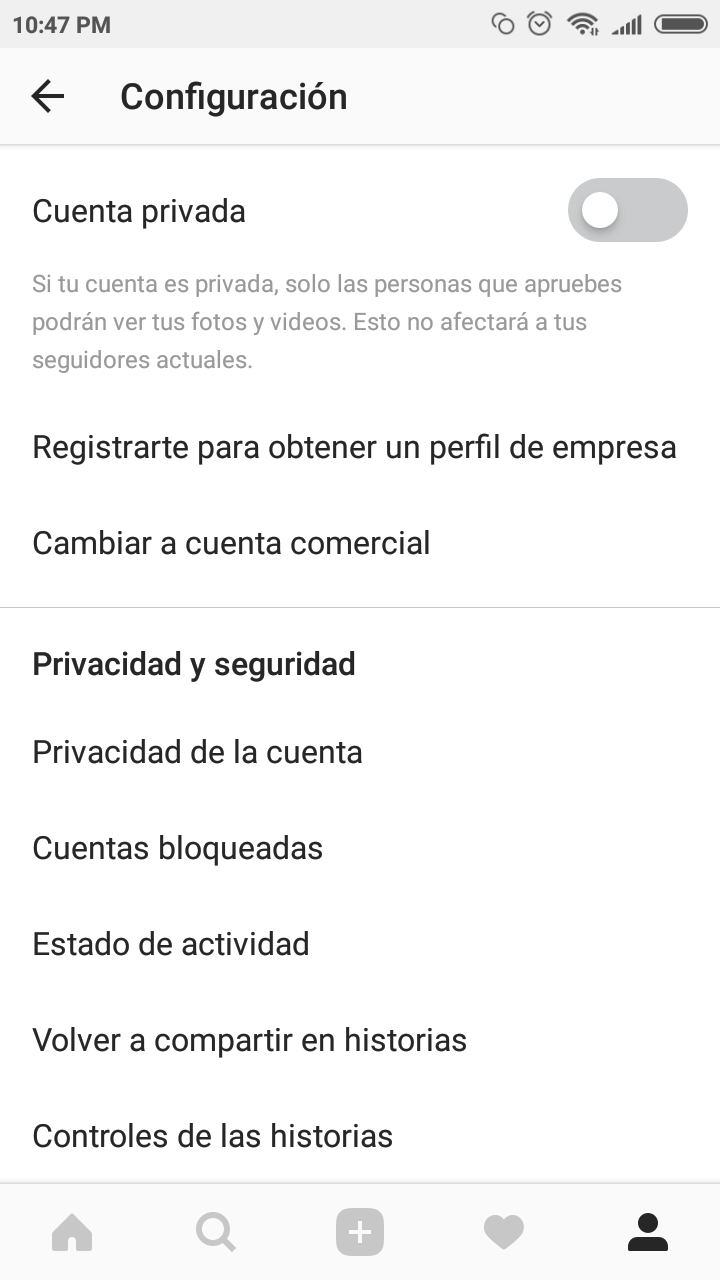 Crea tu perfil de empresa en Instagram 4