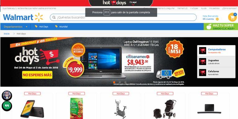 Walmart lanza su propia campaña de ventas: Hot Days