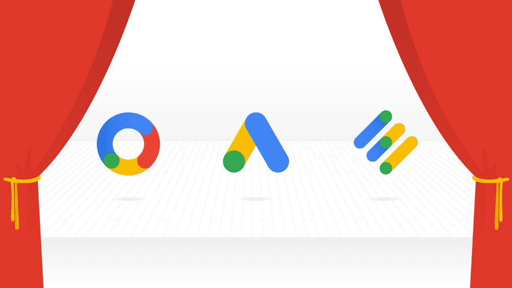 Logos de Google Ads, Google Marketing Platform y Google Ad Manager