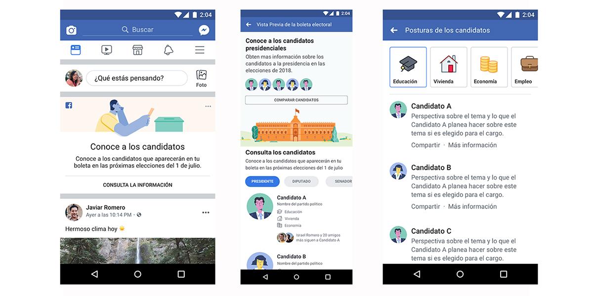 Facebook lanza herramienta Perspectivas Políticas para elecciones en México