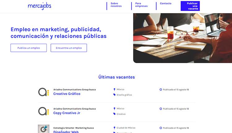 Lanzan Mercajobs, primer portal de empleos en marketing, publicidad y comunicación en México