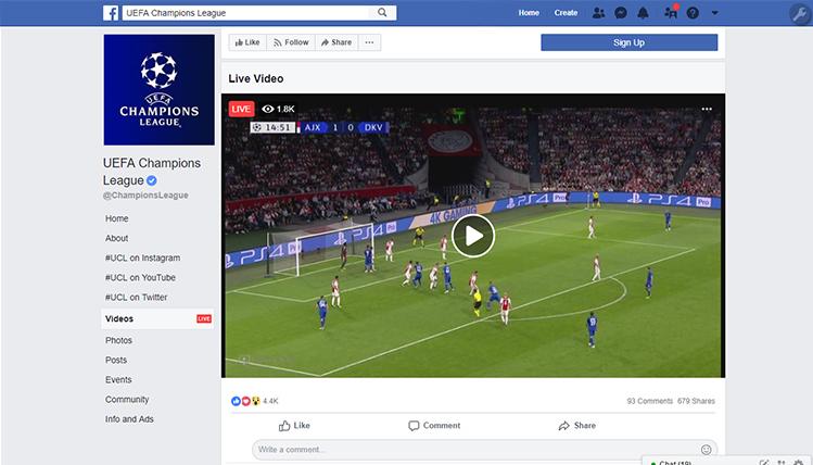 Facebook transmitirá la Champions League en México y LATAM
