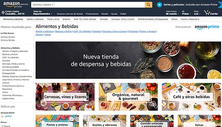 Ya es posible comprar alimentos y bebidas en Amazon México; 'ataca' a Walmart en su terreno