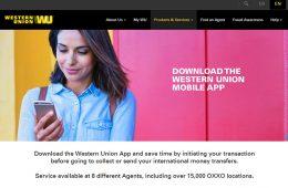 Western Union lanza en México app móvil con opciones omnicanal