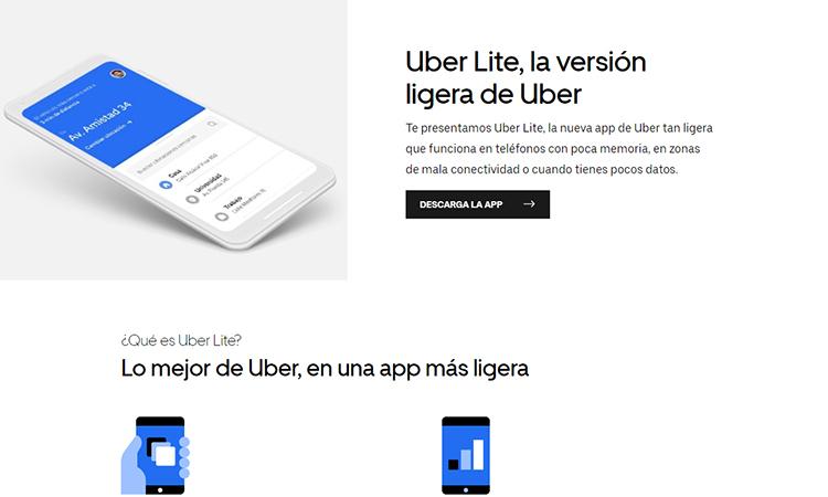 Uber lanza nuevas herramientas, entre ellas su versión lite