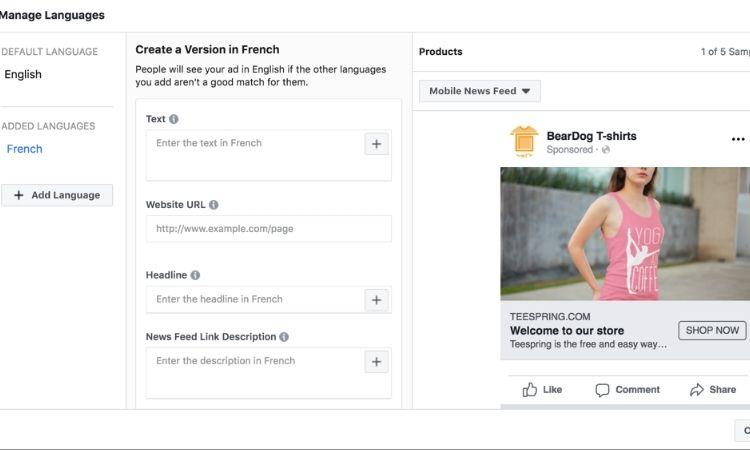 Cómo crear un anuncio dinámico en Facebook en varios idiomas a la vez (Sí, por fin se puede)