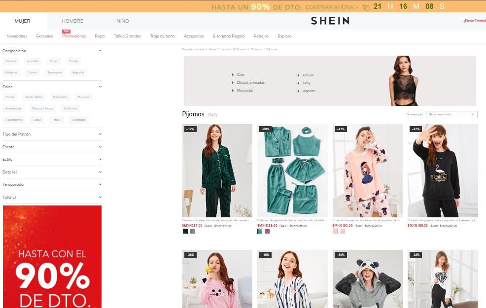 b759993c4bc9 Tienda de moda online Shein: opiniones análisis y valoración ...