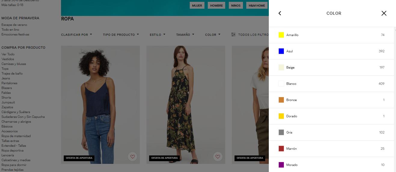 9beb97c01adae3 Las prendas y accesorios se muestran con una pequeña descripción, el  precio, precio de oferta en los casos que aplique, la colección a la que  pertenecen, ...