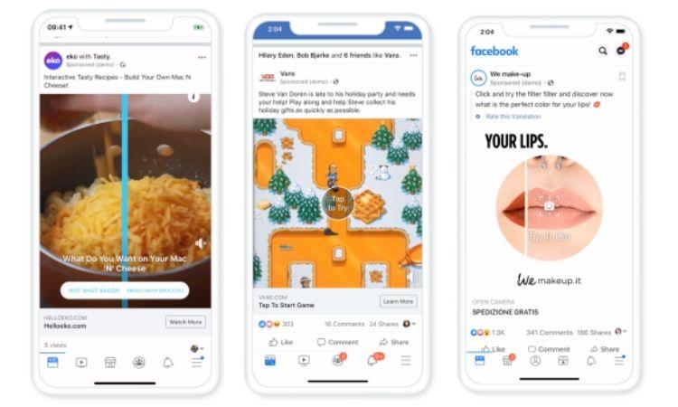 Tres nuevos anuncios en Facebook: Realidad Aumentada, encuestas y formatos activables