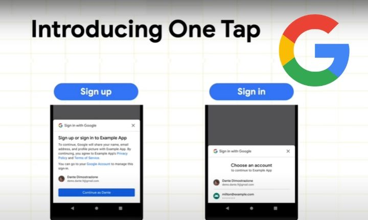 Google presenta One Tap: registro fácil desde el móvil con solo un toque y sin contraseñas
