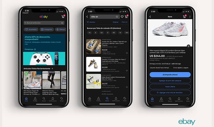 Dark Mode a eBay