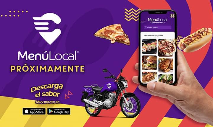 app menú local