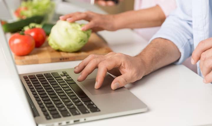 comida sana por internet