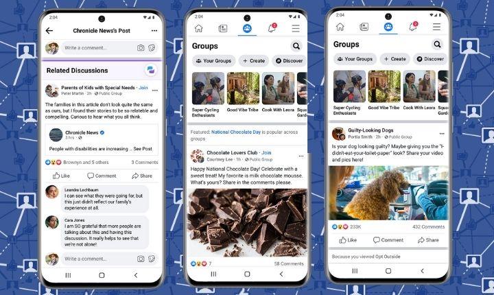 Facebook renueva su apuesta por los grupos: chats, indexación de conversaciones en Google y más herramientas para administradores