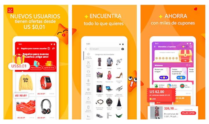 apps de compras Android más descargadas