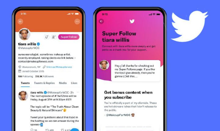 Twitter lanza Superfollow: la red social evoluciona hacia los contenidos de pago