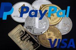 PayPal y Visa impulsan el pago con criptomonedas lanzando nuevas funciones para sus usuarios