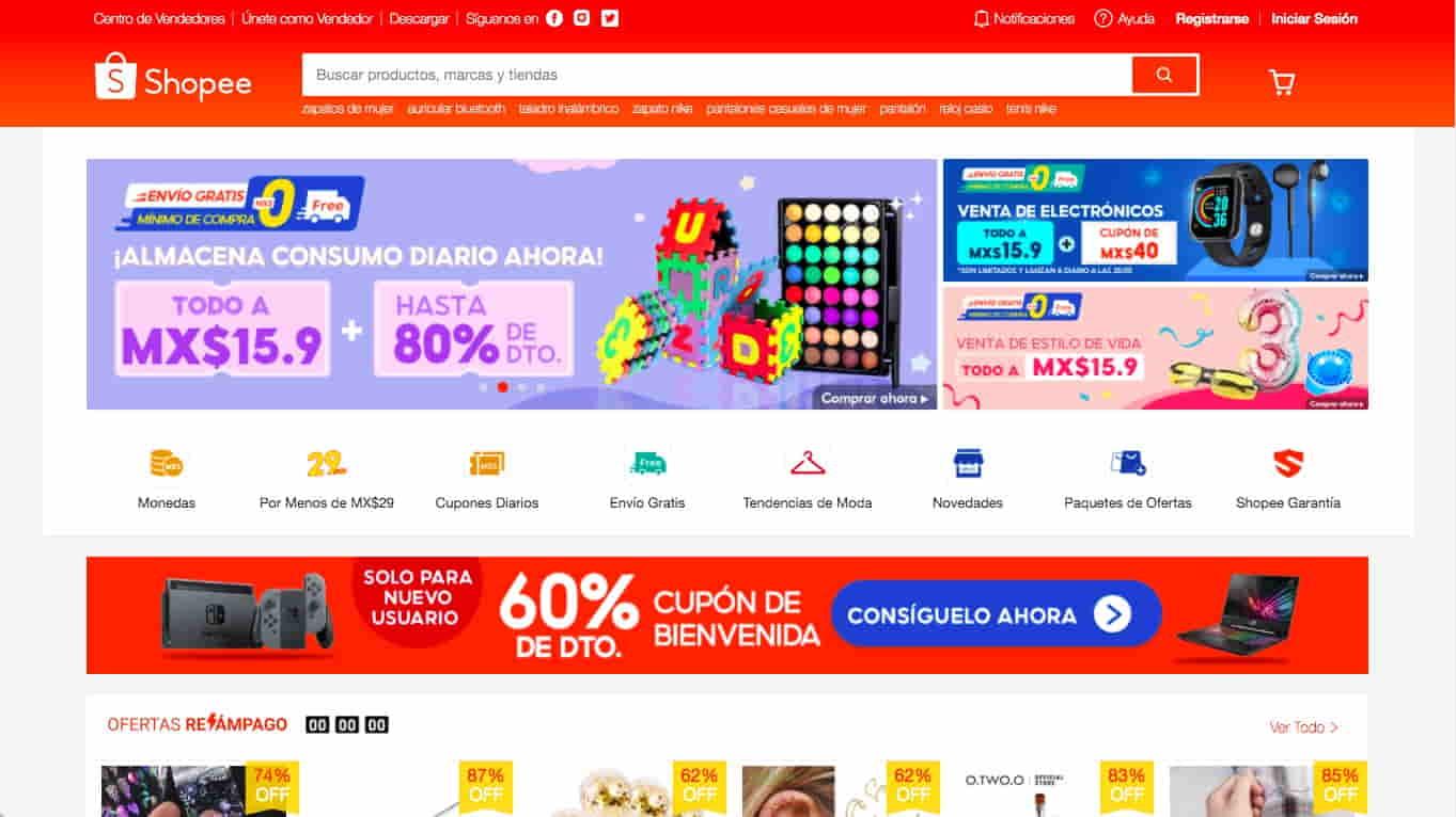 Tienda online Shopee