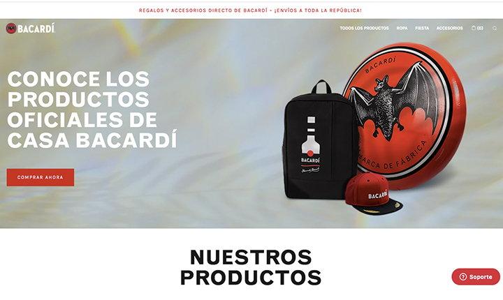 Tienda online Bacardí