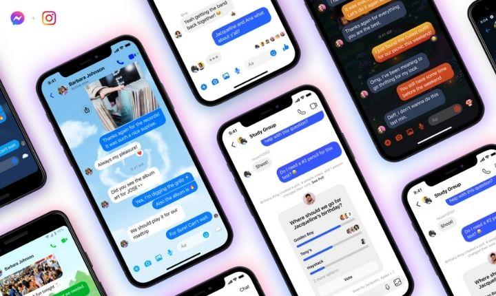 Facebook amplía la integración de Instagram y Messenger con conversaciones cruzadas entre grupos