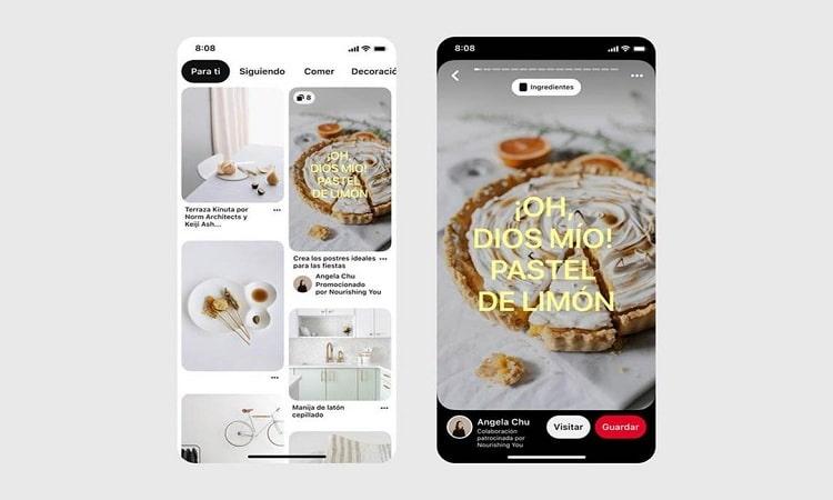 Vídeos generados automáticamente y colaboraciones entre marcas y creadores, nuevas herramientas de Pinterest
