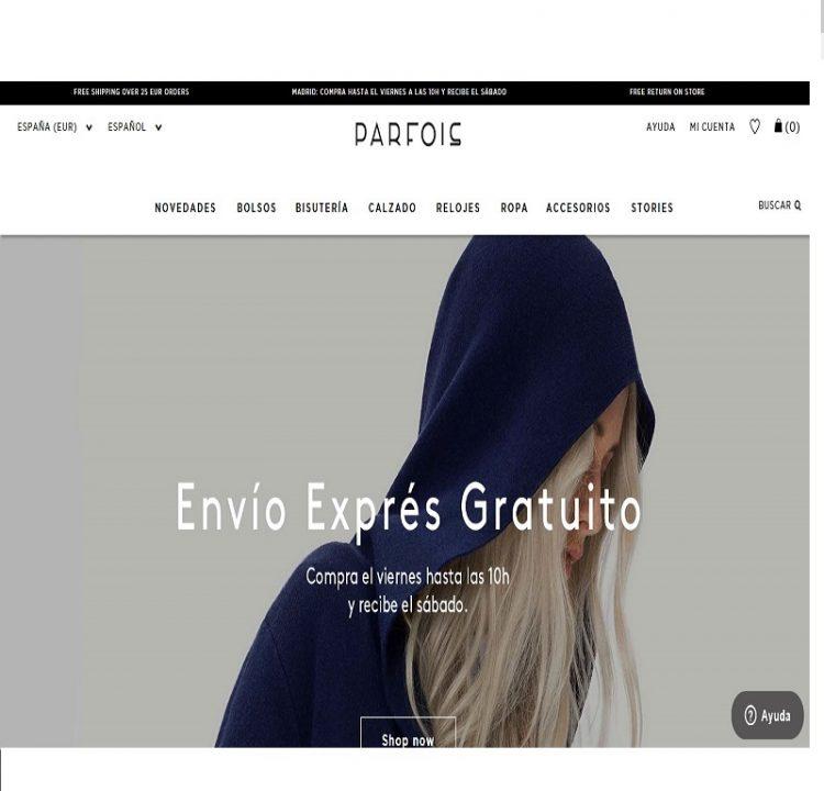 La web de Parfois online
