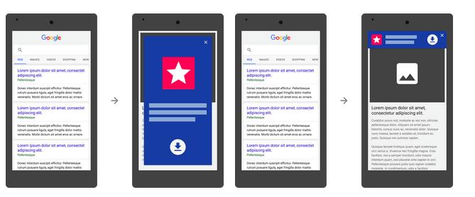 Google penalizará a sitios móviles con anuncios de instalación app