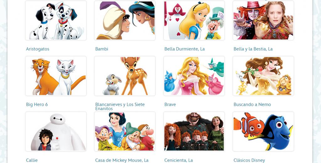 Disney Store dibujos