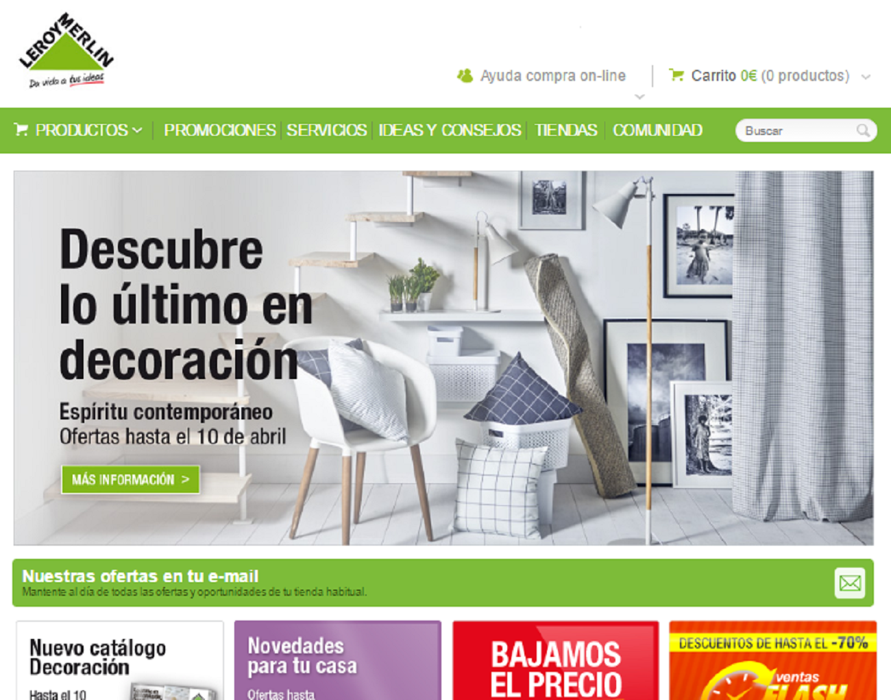 Tienda online leroy merlin an lisis valoraci n y opiniones for Leroy merlin madrid catalogo