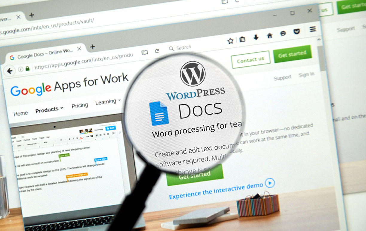 integracion wordpress y google docs
