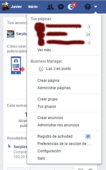 Facebook for business acceso