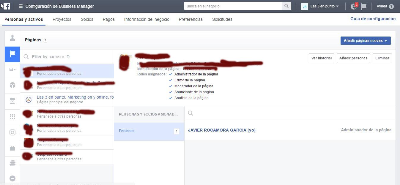 Facebook for business gestor de páginas