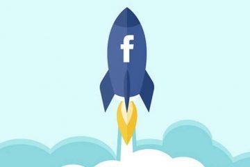 icono de cohete en Facebook Imagen Techninja