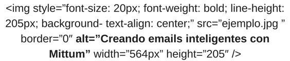 ¿Por qué es importante utilizar los ALT tags en tu newsletter? Muestra del código