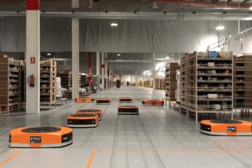 robots logísticos de Amazon