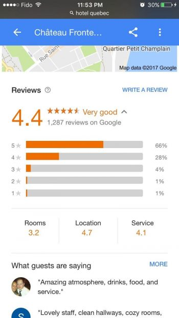 reviews de Google 4