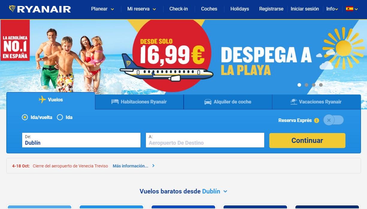 5d5b6c6e528 Salvemos la web de Ryanair: los 250 empleados que contratará en Madrid