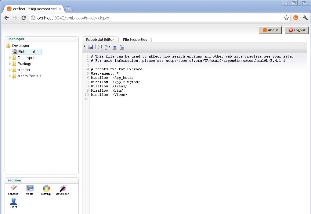 Sitemap del archivo Robots.txt en una página web.
