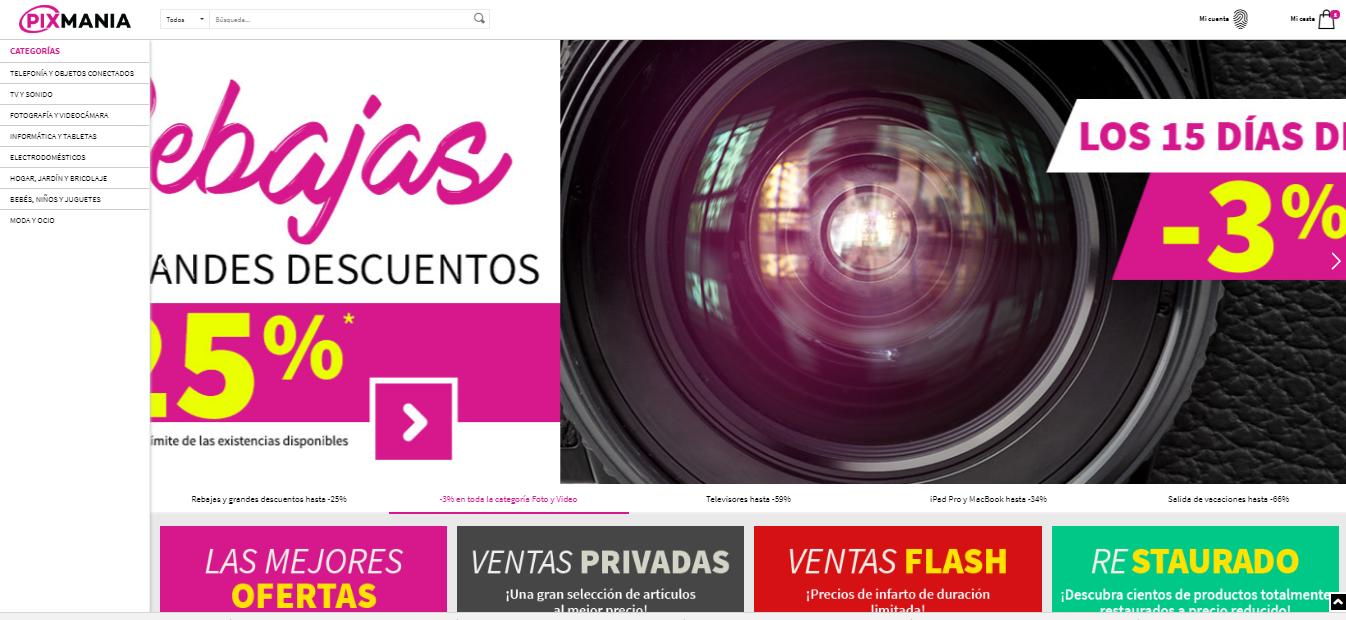 pixmania web