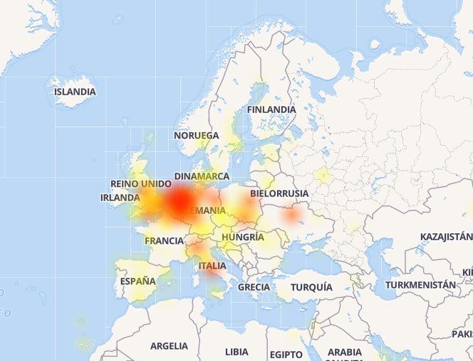 facebook mapa de fallos
