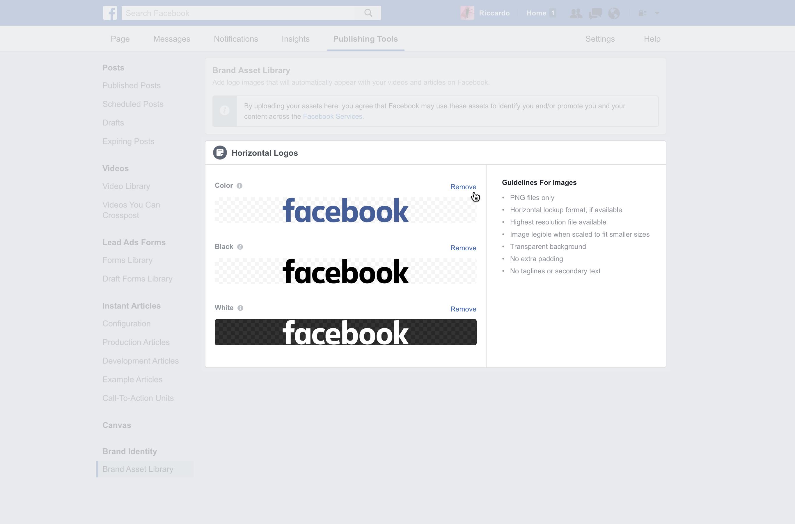 Cómo poner tu logo en la sección de noticias de Facebook logotipos subir imagen facebook