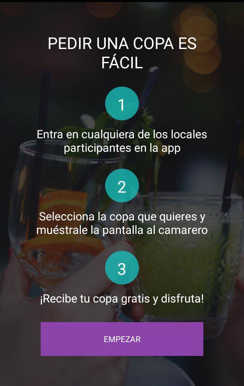 Proceso de uso de la aplicación Bida.