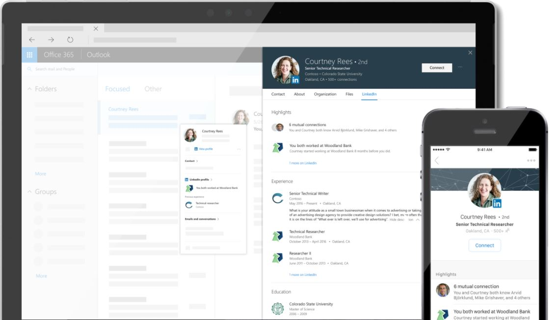 linkedin en office 365