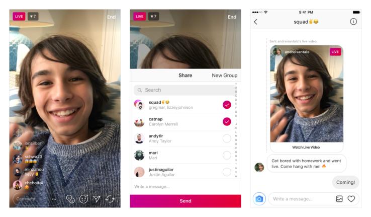 Ya puedes enviar vídeos en directo a través de los mensajes directos de Instagram