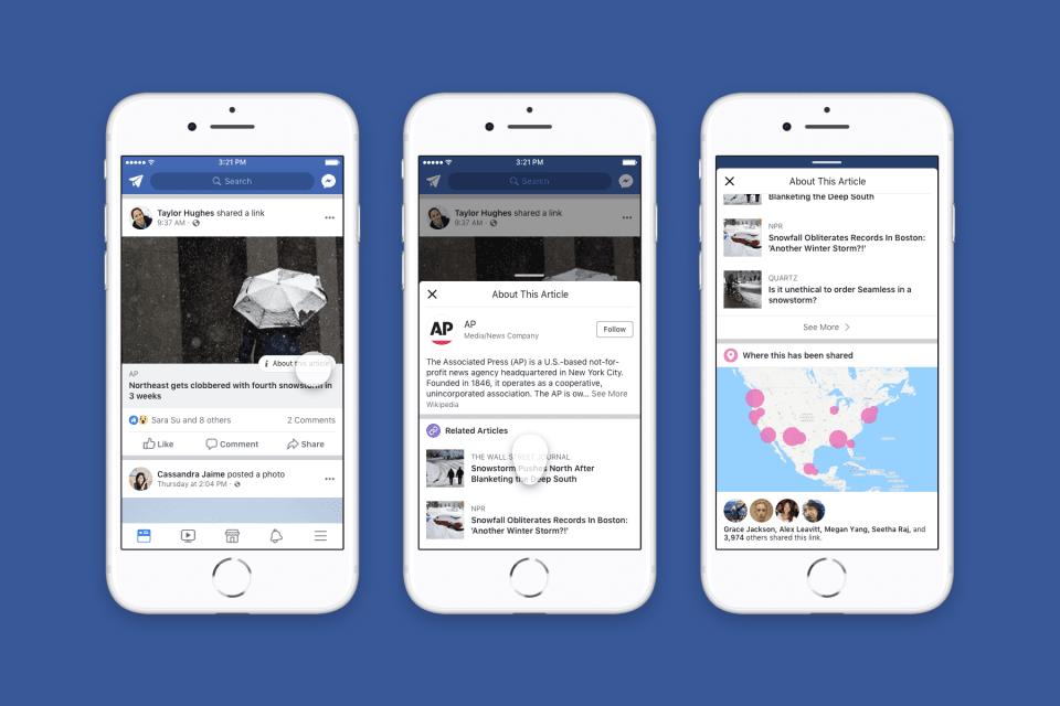 La nueva medida de Facebook contra las fake news permitirá que sepas qué amigos las han compartido